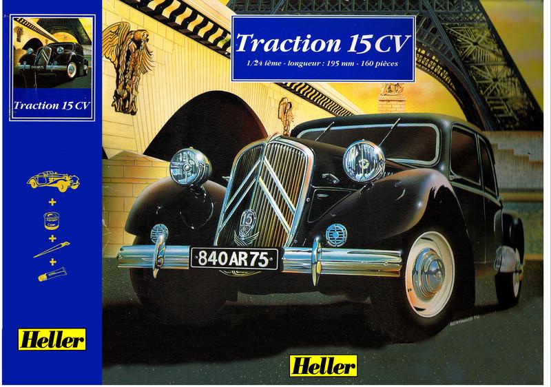 Citroën  traction 15 6 1/24  Heller  ref  60 763 Recto_10