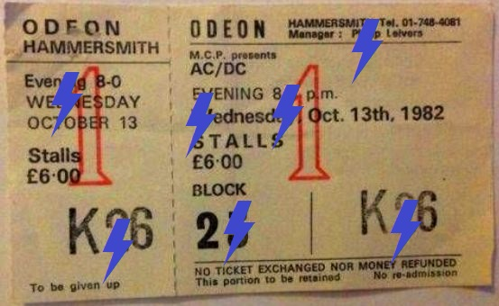 1982 / 10 / 13 - UK, London, Hammersmith Odeon 13_10_10
