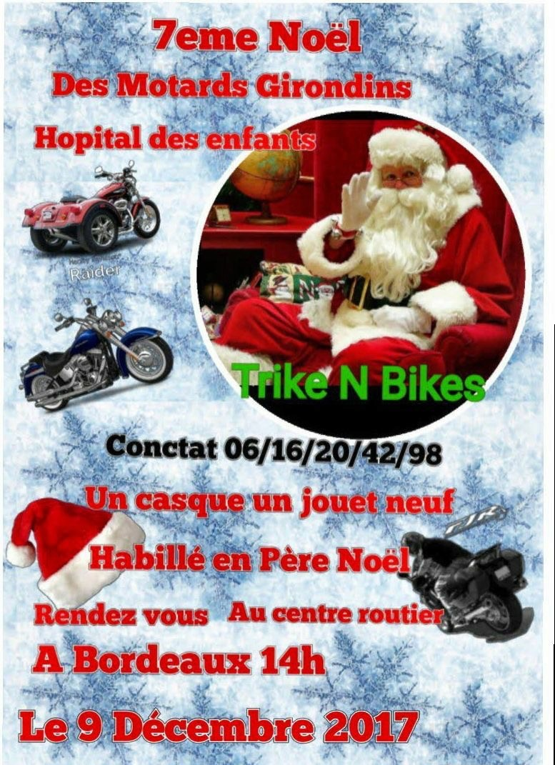 Noël motard pour les enfants malades à Bordeaux  C1dba310