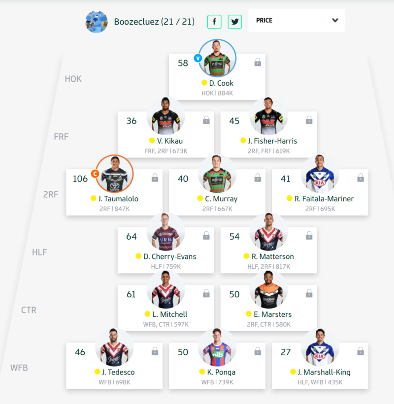 Trials and Tribulations of an NRL Fantasy coach 2018 - End result 164th - Page 7 Round_62