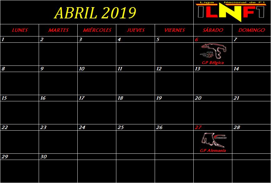 Calendario Abril10