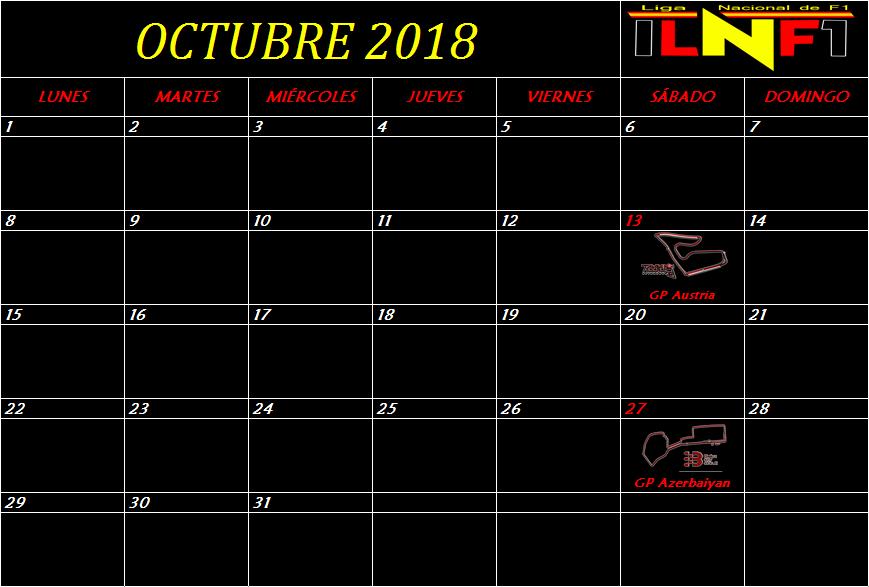 Calendario Octubr10