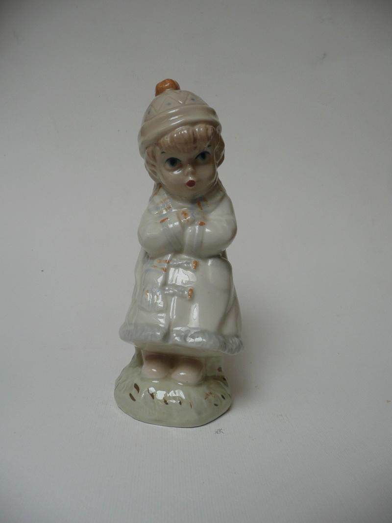 Midcentury Child Figurine with Incomplete Mark  P1140429