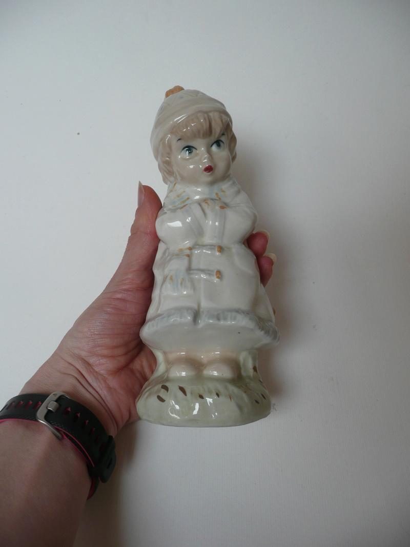 Midcentury Child Figurine with Incomplete Mark  P1140432