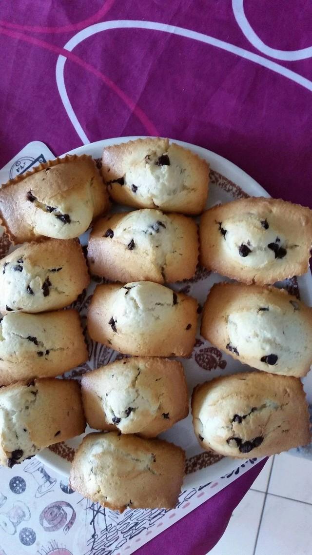 Muffins aux pépites de chocolat 14074410