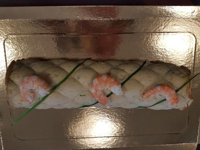 buche au saumon et crevettes Buche_11