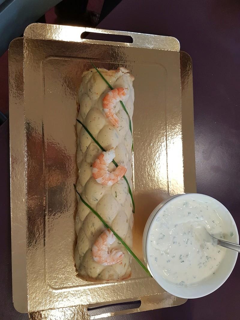 buche au saumon et crevettes Buche_12