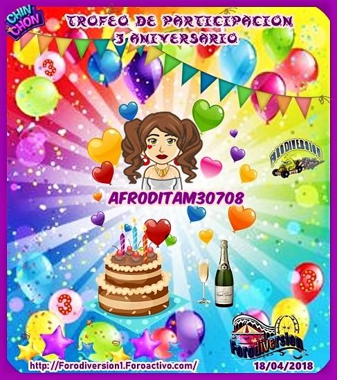 TROFEOS DE PARTICIPACION DE 3º ANIVERSARIO DE FORODIVERSION  Afrodi11