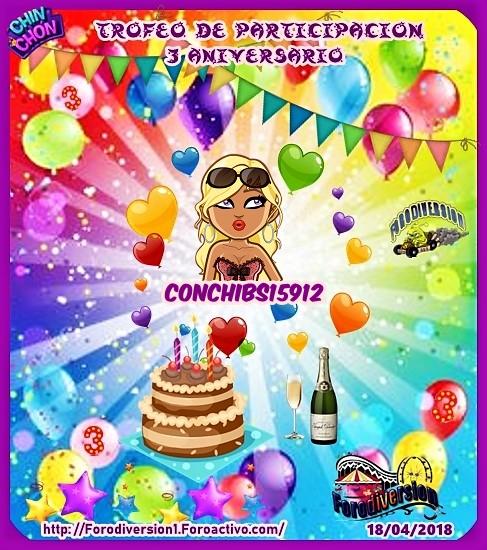TROFEOS DE PARTICIPACION DE 3º ANIVERSARIO DE FORODIVERSION  Conchi11
