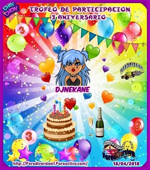 TROFEOS DE PARTICIPACION DE 3º ANIVERSARIO DE FORODIVERSION  Djneka10