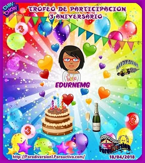 TROFEOS DE PARTICIPACION DE 3º ANIVERSARIO DE FORODIVERSION  Edurne10