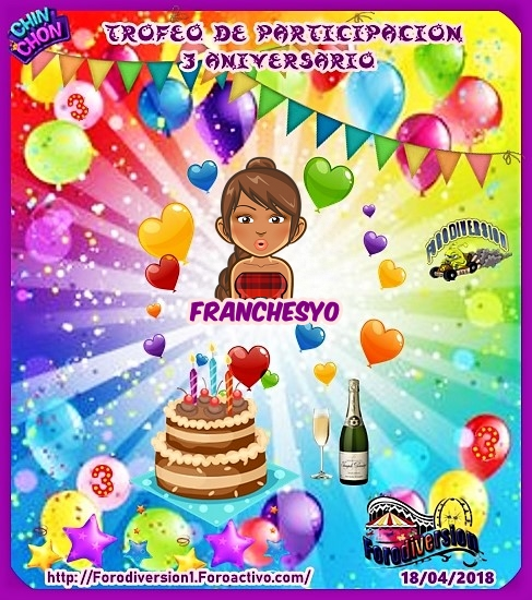 TROFEOS DE PARTICIPACION DE 3º ANIVERSARIO DE FORODIVERSION  Franch10