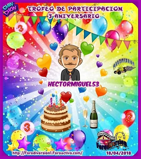 TROFEOS DE PARTICIPACION DE 3º ANIVERSARIO DE FORODIVERSION  Hector10