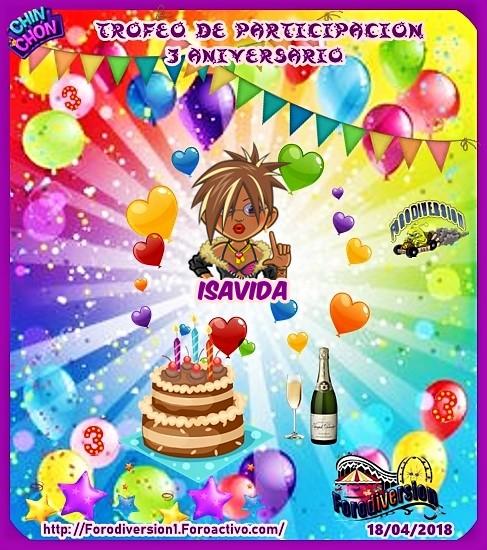 TROFEOS DE PARTICIPACION DE 3º ANIVERSARIO DE FORODIVERSION  Isavid10