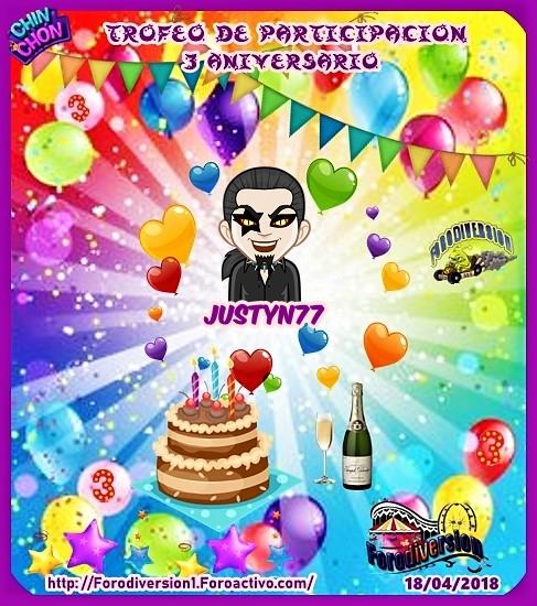 TROFEOS DE PARTICIPACION DE 3º ANIVERSARIO DE FORODIVERSION  Justyn10