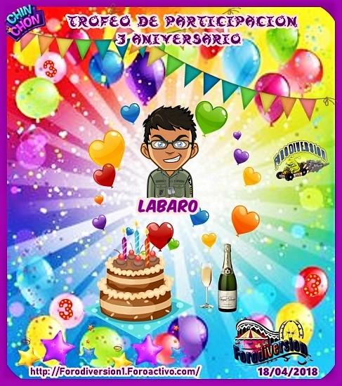 TROFEOS DE PARTICIPACION DE 3º ANIVERSARIO DE FORODIVERSION  Labar010