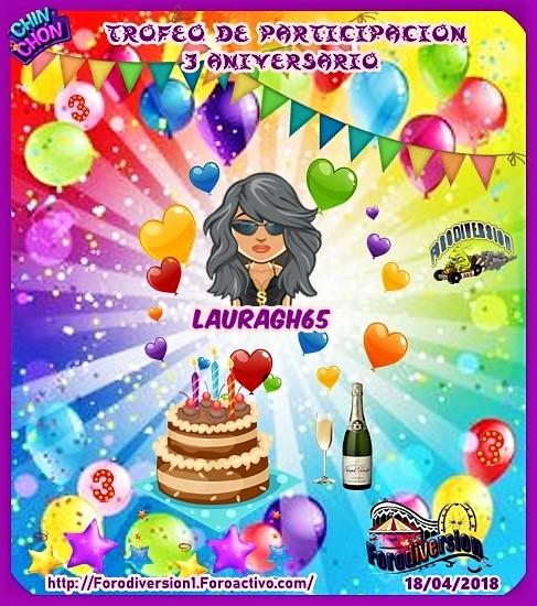 TROFEOS DE PARTICIPACION DE 3º ANIVERSARIO DE FORODIVERSION  Laurag10