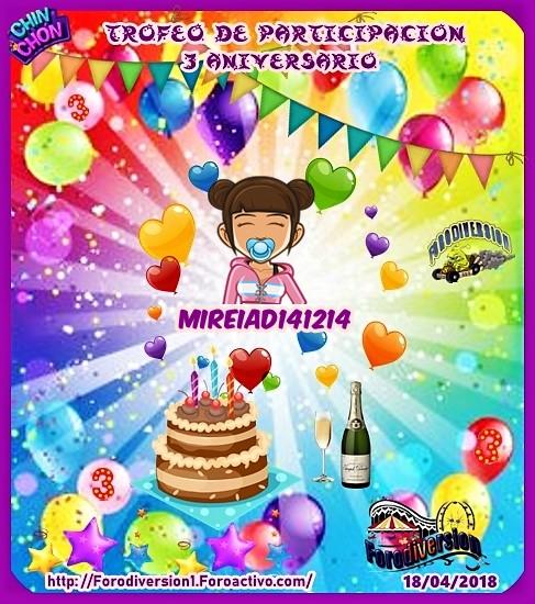 TROFEOS DE PARTICIPACION DE 3º ANIVERSARIO DE FORODIVERSION  Mireia10