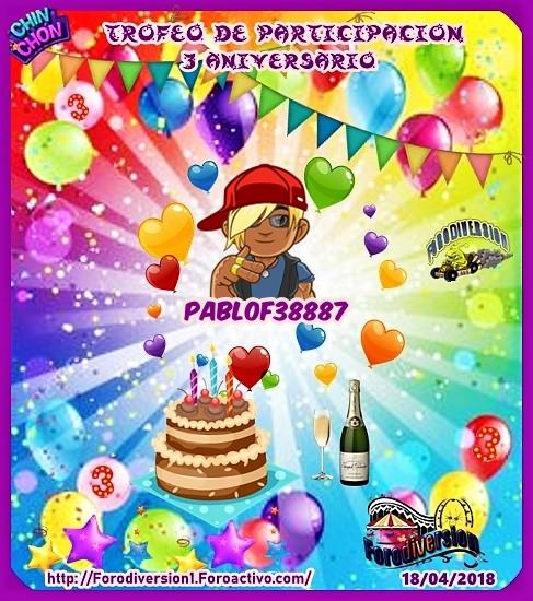 TROFEOS DE PARTICIPACION DE 3º ANIVERSARIO DE FORODIVERSION  Pablof10