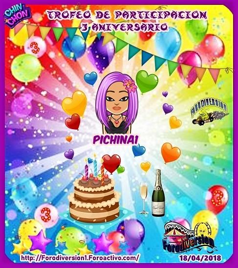 TROFEOS DE PARTICIPACION DE 3º ANIVERSARIO DE FORODIVERSION  Pichin10