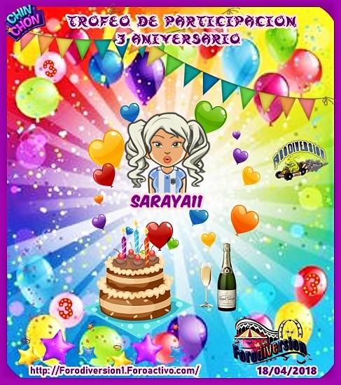 TROFEOS DE PARTICIPACION DE 3º ANIVERSARIO DE FORODIVERSION  Saraya10