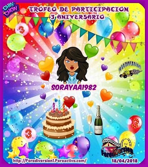 TROFEOS DE PARTICIPACION DE 3º ANIVERSARIO DE FORODIVERSION  Soraya10