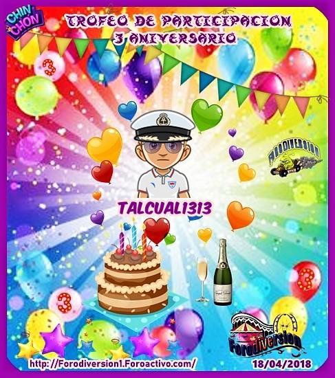 TROFEOS DE PARTICIPACION DE 3º ANIVERSARIO DE FORODIVERSION  Talcua10