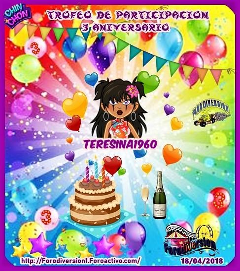TROFEOS DE PARTICIPACION DE 3º ANIVERSARIO DE FORODIVERSION  Teresi10