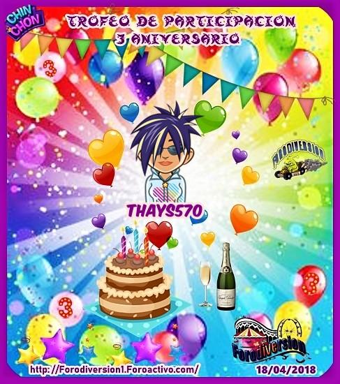TROFEOS DE PARTICIPACION DE 3º ANIVERSARIO DE FORODIVERSION  Thays510