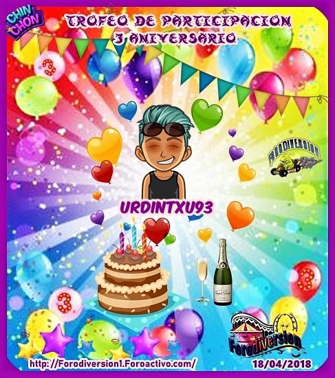 TROFEOS DE PARTICIPACION DE 3º ANIVERSARIO DE FORODIVERSION  Urdint10