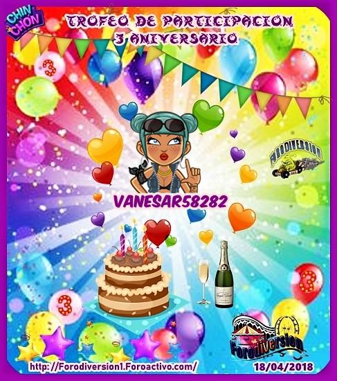 TROFEOS DE PARTICIPACION DE 3º ANIVERSARIO DE FORODIVERSION  Vanesa10
