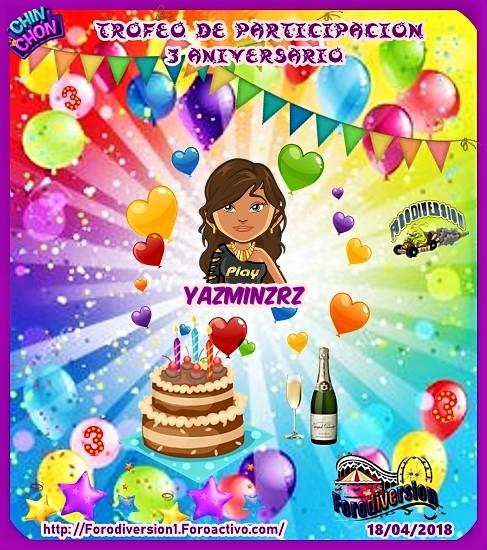 TROFEOS DE PARTICIPACION DE 3º ANIVERSARIO DE FORODIVERSION  Yazmin10