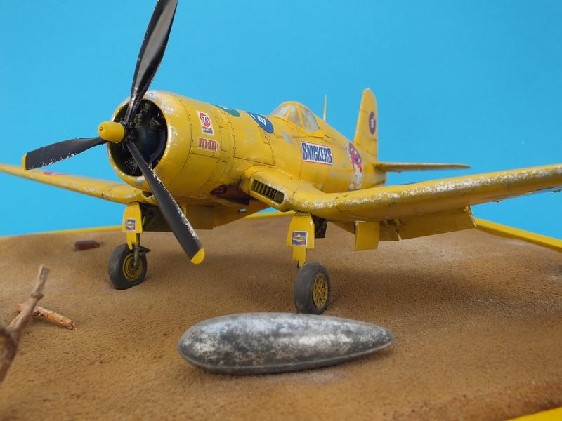 Corsair F4AU-1A 1/48 Tamiya réf.61070 décoration spécifique à mon pseudo............ - Page 3 Dscf1916