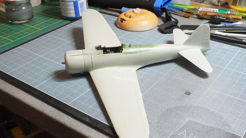 A6M2 type 21  Tamiya ref:61016 from the box, avion capturé par les américains - 1/48 Dscf2083