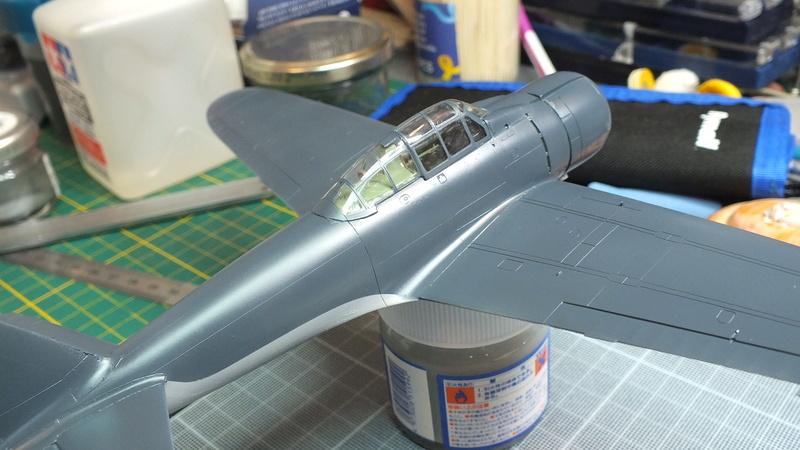 A6M2 type 21  Tamiya ref:61016 from the box, avion capturé par les américains - 1/48 Dscf2122