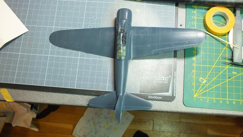A6M2 type 21  Tamiya ref:61016 from the box, avion capturé par les américains - 1/48 Dscf2125