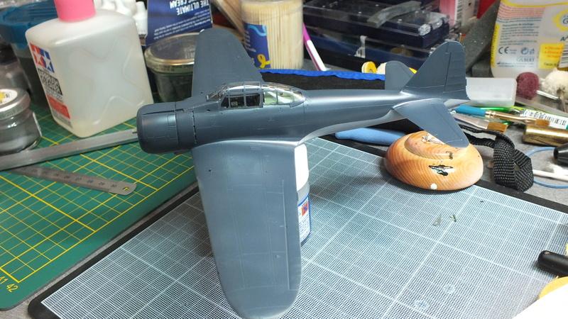 A6M2 type 21  Tamiya ref:61016 from the box, avion capturé par les américains - 1/48 Dscf2126