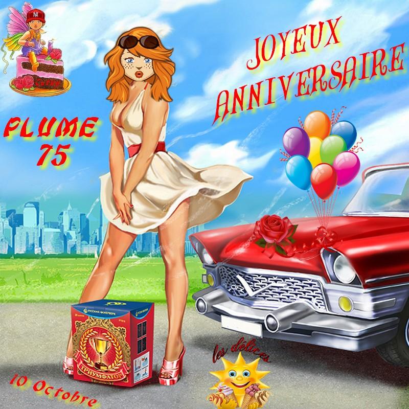 ANNIVERSAIRE PLUME75 Plume710