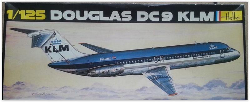 DOUGLAS DC 9 KLM 1/125ème Réf 462 Scree105