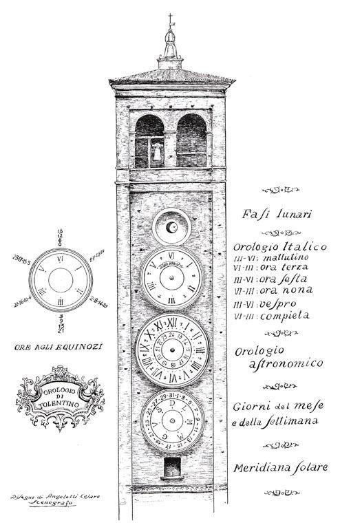 Les cadrans du clocher de l'eglise de Tolentini - Italie Torre_10