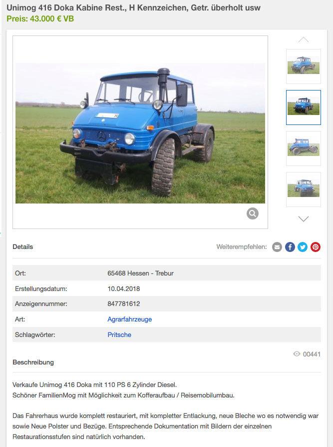 Vente en Allemagne d'un 416 doka à 43 000 € (!!!) Captur16
