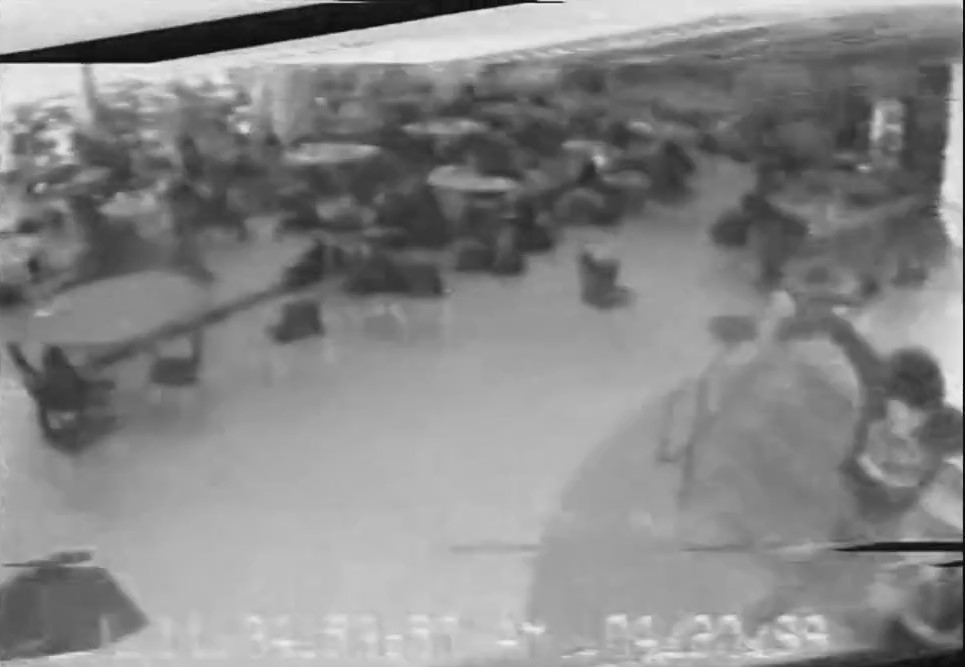 Escaping John Savage caught by the security camera Js10
