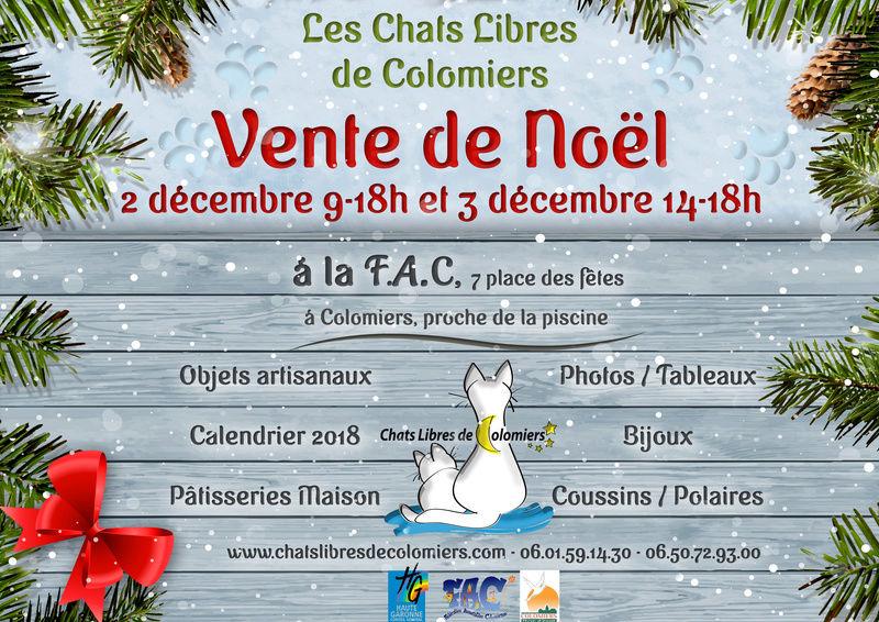 Vente de Noël les 2 et 3 décembre Noel213