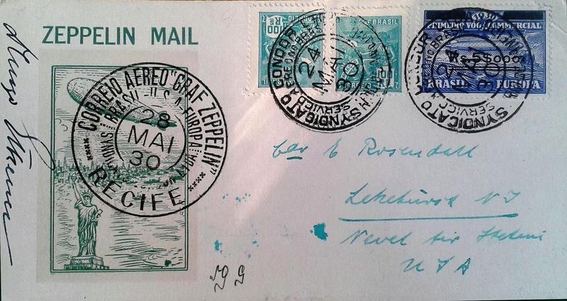 nach - Südamerikafahrt 1930, Post nach Lakehurst - Seite 4 Rosend11