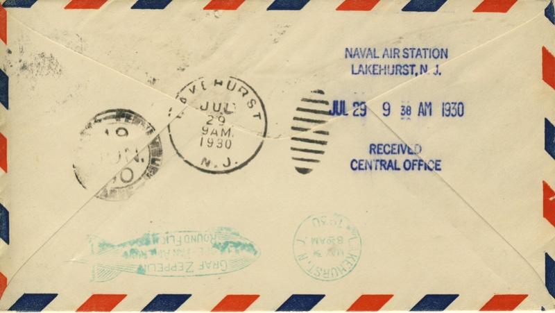 nach - Südamerikafahrt 1930, Post nach Lakehurst - Seite 4 Shoema10