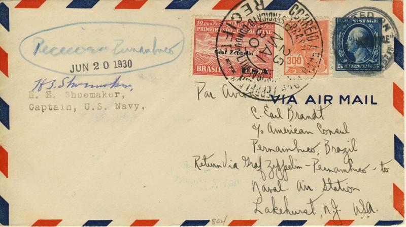nach - Südamerikafahrt 1930, Post nach Lakehurst - Seite 4 Shoema11