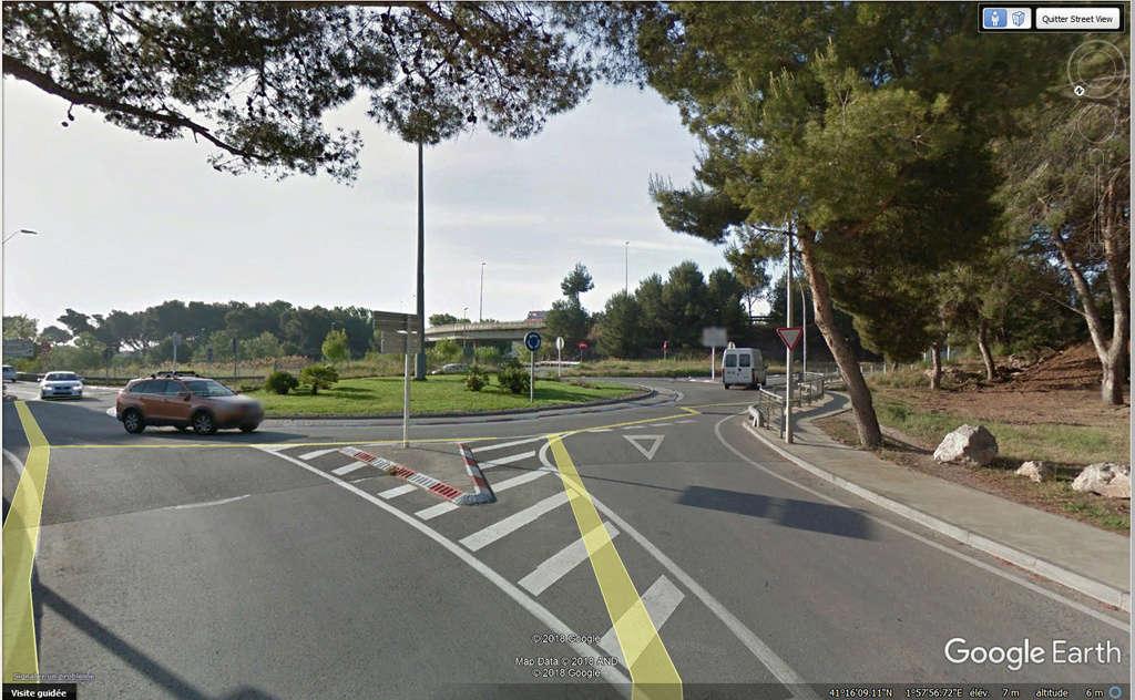 STREETVIEW: faire du stop:l'explication, Castelldefels, Espagne Stoppe10