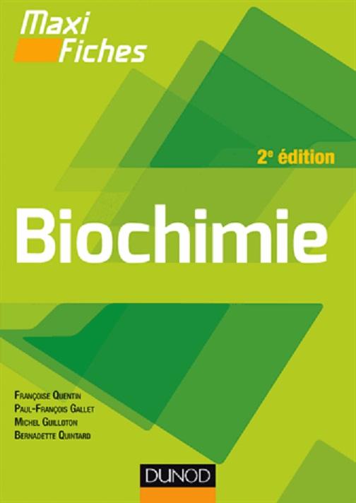 Livres Médicales - Maxi fiches - Biochimie en 84 fiches - 2e édition - Page 2 97821010