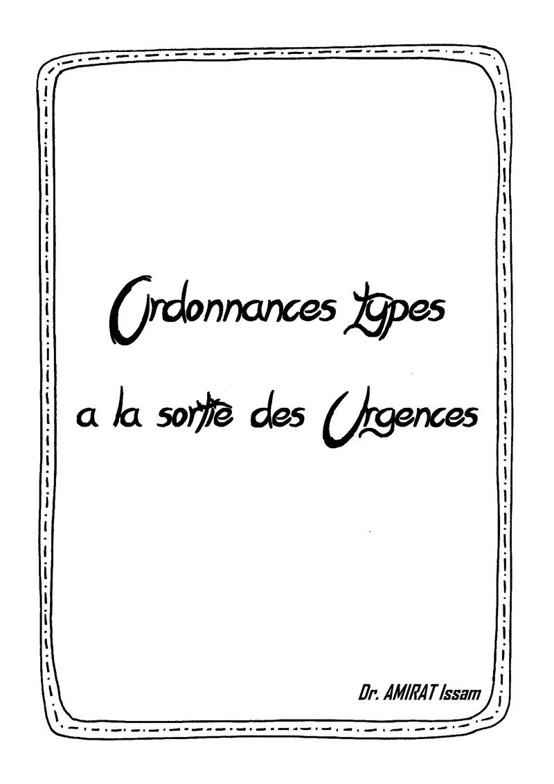 Livres Médicales - Ordonnances types à la sortie des Urgences Ordonn10