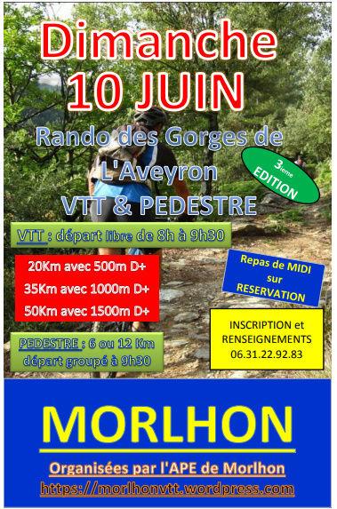 Randonnée VTT (3ème édition) à Morlhon-le-Haut  12 10juin10